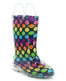 Toddler, Little Girl's and Big Girl's Lighted Rain Boots