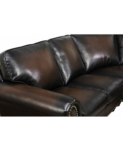 Denver Leather Sectional Sofa