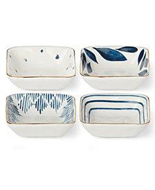 Lenox Blue Bay  Set/4  Square Stacking Dip Bowls