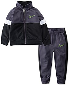 Baby Boys 2-Pc. Colorblocked Zip-Up Jacket & Jogger Pants Set