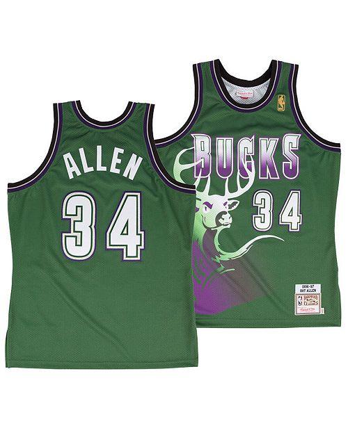 Mitchell & Ness Men's Ray Allen Milwaukee Bucks Authentic Jersey