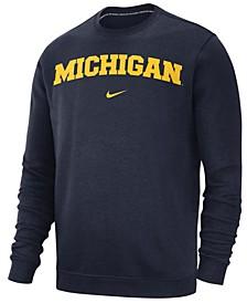 Men's Michigan Wolverines Club Fleece Crewneck Sweatshirt