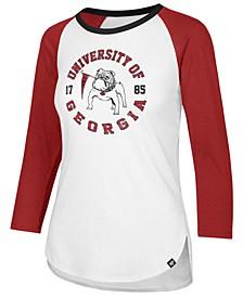 Women's Georgia Bulldogs Script Splitter Raglan T-Shirt