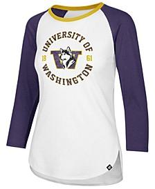 Women's Washington Huskies Script Splitter Raglan T-Shirt