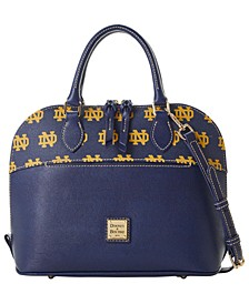 Notre Dame Fighting Irish Saffiano Zip Satchel