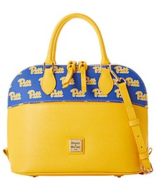 Pittsburgh Panthers Saffiano Zip Satchel