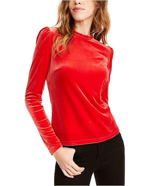 Maison Jules Puff-Sleeve Velvet Top, Created For Macy's
