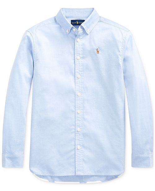 Polo Ralph Lauren Big Girls Pinpoint Cotton Oxford Tunic