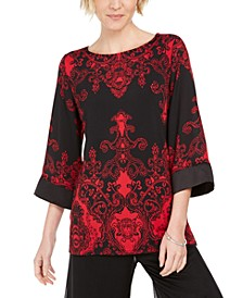 Petite Drop Shoulder Satin Tunic, Created For Macy's