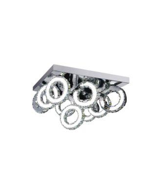CLOSEOUT! CWI Lighting Ring LED Flush Mount