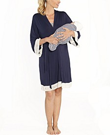 Blooming Women 3 Piece Robe, Nursing Dress and Baby Wrap Set