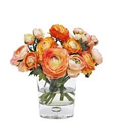 Permanent Botanicals Mix Ranunculus in Vase