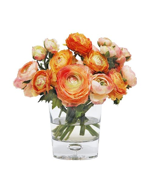 Winward Silks Permanent Botanicals Mix Ranunculus in Vase