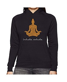 Women's Word Art Hooded Sweatshirt -Inhale Exhale