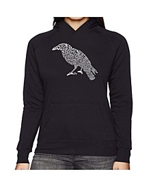 Women's Word Art Hooded Sweatshirt -Edgar Allen Poe's The Raven