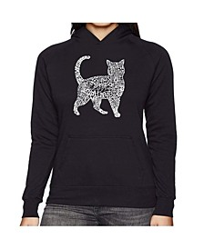 Women's Word Art Hooded Sweatshirt - Cat