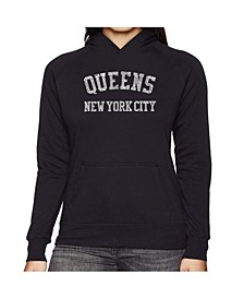 Women's Word Art Hooded Sweatshirt -Popular Neighborhoods In Queens, Ny