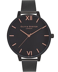 Women's After Dark Black Stainless Steel Mesh Bracelet Watch 38mm