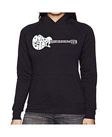 Women's Word Art Hooded Sweatshirt -Don'T Stop Believin'