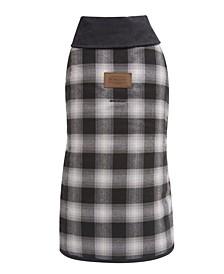 Charcoal Ombre Plaid Dog Coat, Medium