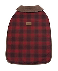 Red Ombre Plaid Dog Coat, Large
