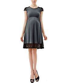 Kate Maternity Lace Insert Skater Dress