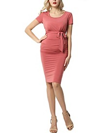 Lana Maternity Ruched Belted Dress