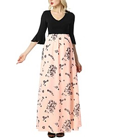 Zora Maternity Floral Maxi Dress