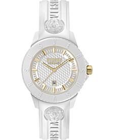 Men's Tokyo R White Silicone Strap Watch 43mm