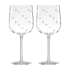 Spade Clover Wine Glass, Set of 2