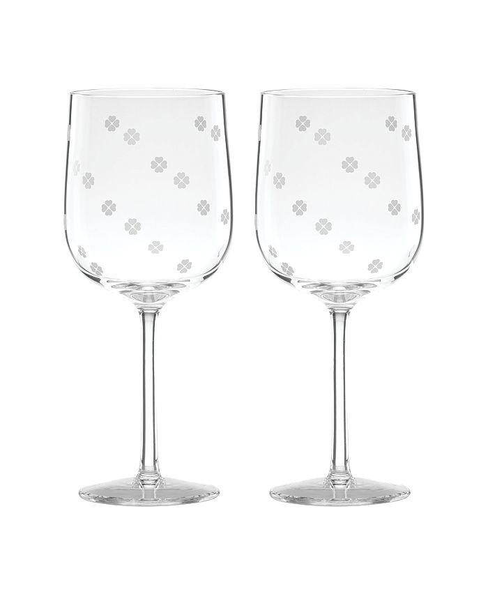 kate spade new york - Spade Clover Wine Glass S/2