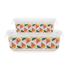 Geo Spade Rectangular Food Storage, Set of 2