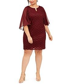 Plus Size Capelet Sheath Dress