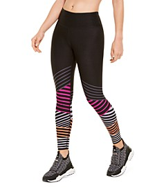 Striped High-Waist Leggings