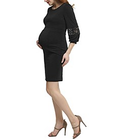 Cate Maternity Belted Midi Dress