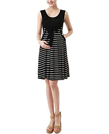 Samantha Striped Maternity Dress