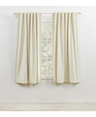 """Waller Blackout Solid Tab/Rod Pocket Curtain Panel, 52"""" x 63"""""""