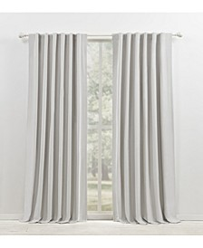 "Waller Blackout Solid Tab/Rod Pocket Curtain Panel, 52"" x 108"""