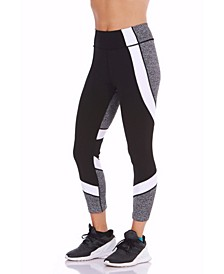 Seven-Eighth Length Color blocked Leggings