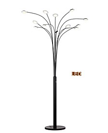 "Quan Money Tree 84"" Arch Floor Lamp, Touch Dimmer"