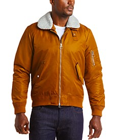Men's Fleece Collar Bomber Jacket