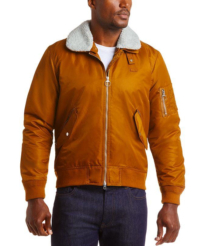 Lacoste Men's Fleece Collar Bomber Jacket