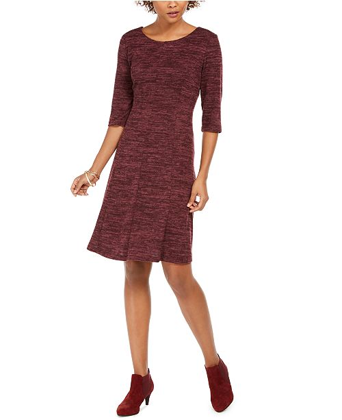 Connected Round-Neck A-Line Dress