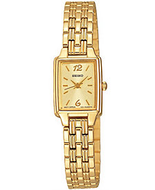 Seiko Women's Gold-Tone Bracelet Watch 16mm SXGL62