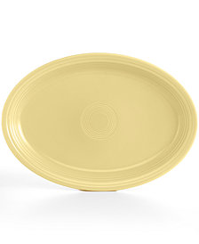 "Fiesta Ivory 19"" Oval Serving Platter"