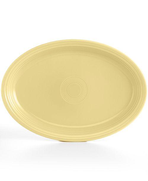 "Fiesta Ivory 19"" Oval Serving Platter"