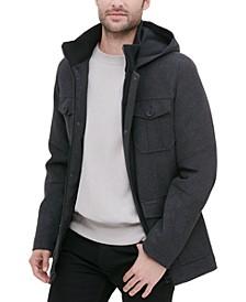 Men's Four Pocket Three-Quarter Length Coat