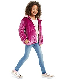 Big Girls Puffer Jacket, T-Shirt & Jeans, Created For Macy's