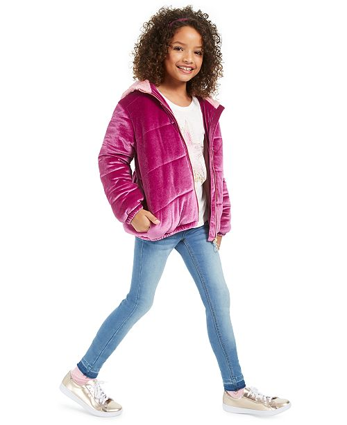 Epic Threads Big Girls Puffer Jacket, T-Shirt & Jeans, Created For Macy's
