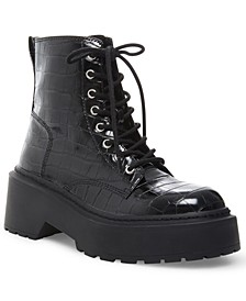 Women's Slasher Platform Combat Booties